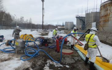 Условная ликвидация аварийного разлива нефтепродуктов