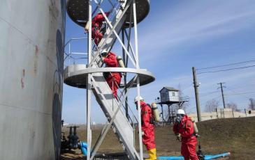 Подход в рабочую зону газоспасателей «ЭКОСПАС»