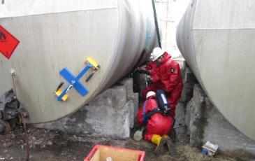 Спасатели Иркутского центра «ЭКОСПАС» приняли участие в учениях ОАО «Международный Аэропорт Иркутск»