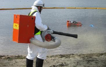 Демонстрация оборудования: распылитель сорбента