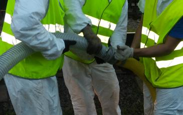 Монтаж рукавных линий для перекачки топлива