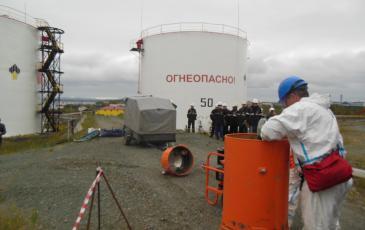 Сбор нефтесборного оборудования на объекте ПАО «НК «Роснефть»-Ямалнефтепродукт»