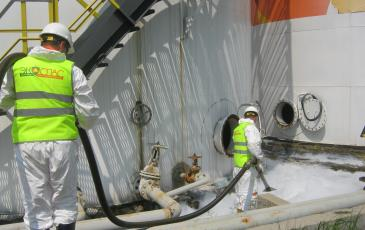 Обработка сорбентом загрязнённого участка на объекте ООО «РН-Востокнефтепродукт»