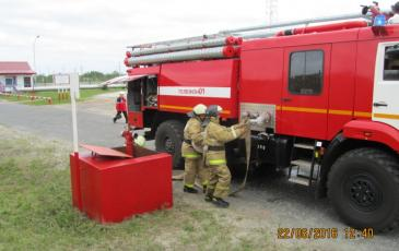 Развертывание пожарного расчета на объекте ООО «ЛУКОЙЛ-Западная Сибирь»