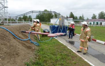 Развертывание оборудования для сбора нефтешлама на объекте ООО «Лукойл-Волганефтепродукт»