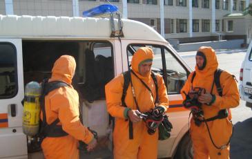 Подготовка газоспасателей к выполнению работ