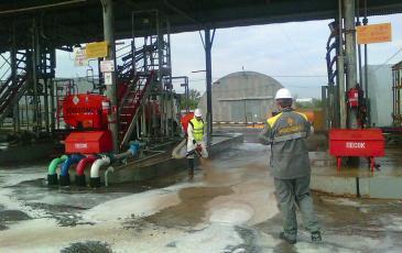 Обработка загрязнённой поверхности на объекте АО «Орелнефтепродукт».