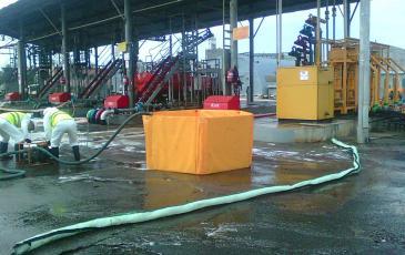 Сбор нефтешлама в ВХН на объекте АО «Орелнефтепродукт»