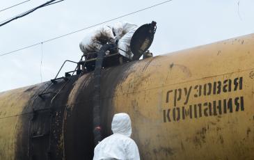 Перекачка нефтесодержащей жидкости в железнодорожную цистерну