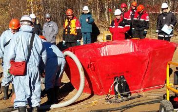 Установка ВХН для сбора разлившихся нефтепродуктов