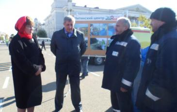 Диалог между губернатором Читинской области и директором Читинского центра «ЭКОСПАС»