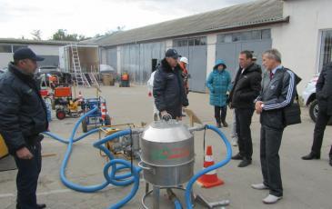 Демонстрация оборудования ЛАРН на суше