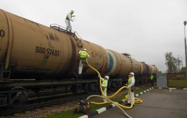 Ликвидация условного разлива нефтепродуктов на объекте АО «РН-Москва»