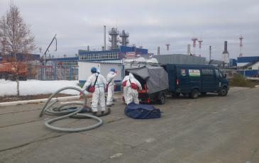 Разгрузка оборудования на объекте ООО «Газпром добыча Ноябрьск»