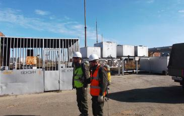 Разведка в зоне разлива нефтепродуктов на объекте «Астраханский ТРЗ – филиал АО «Желдорреммаш»
