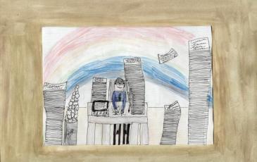 Рисунок Маши Плосконосовой