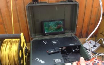 Пост управления телеуправляемым подводным аппаратом на катере обеспечения