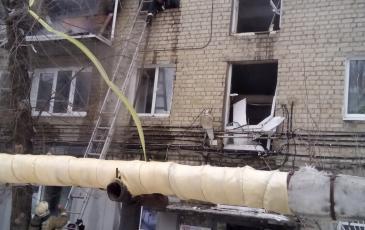 Окно квартиры, в которой произошёл взрыв