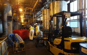 Установка ёмкости временного хранения нефтепродуктов