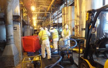 Ликвидация условного аварийного разлива нефтепродукта