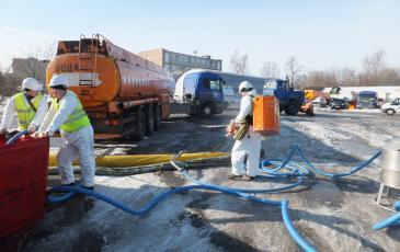 Ликвидация условного аварийного разлива нефтепродуктов