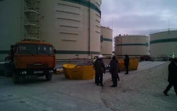 Установка оборудования в зоне разлива