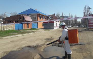Обработка загрязненного участка Сорбент с помощью РАС