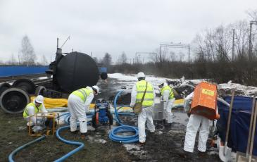 Ликвидация аварийного разлива нефтепродукта