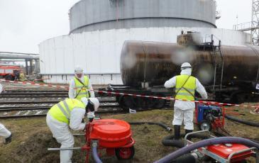 Ликвидация условного разлива нефтепродукта