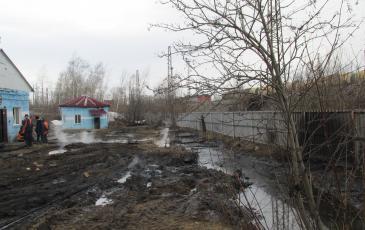 Загрязненные площади на промывочно-пропарочной станции Черниковка-Восточная