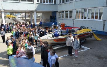 Демонстрация лодки-бонопостановщика «Салют-525 ПБ»