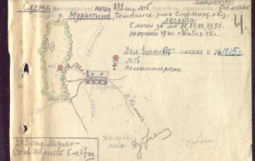 Схема 1942 года из архива Министерства обороны Российской Федерации