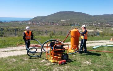 Коммутация шлангов нефтесборного устройства ВАУ-1