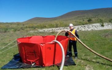 Запуск устройства для перекачки нефтепродуктов
