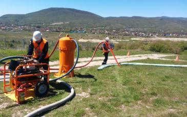 Имитация сбора нефтепродукта нефтесборным устройством ВАУ
