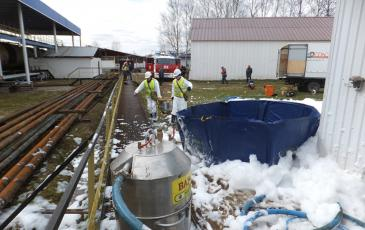 Сборка и расстановка оборудования на объекте АО «РН-Москва»