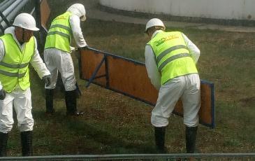 Установка подпорной стенки на объекте АО «Орелнефтепродукт»