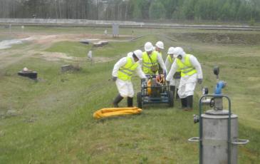 Подключение нефтесборного оборудования