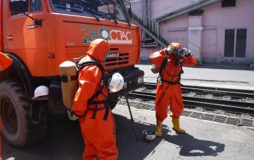 Спасатели Приморского центра «ЭКОСПАС» готовятся к проведению разведки условной зоны ЧС
