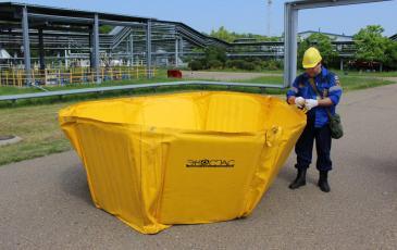 Установка ёмкости ВХН-6К для сбора разлившихся нефтепродуктов