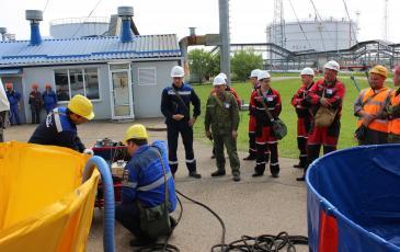 Подготовка нефтесборной системы к работе