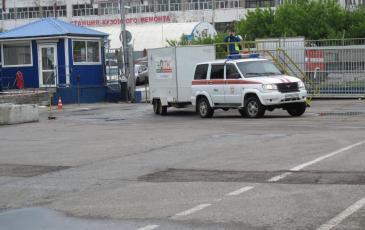Прибытие спасателей Уфимского центра «ЭКОСПАС» на территорию АО «Пивоварня Москва-Эфес»