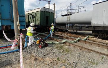 Установка нижнего сливного устройства и подготовка станции к перекачиванию нефтепродукта