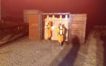 Вскрытие зараженного контейнера