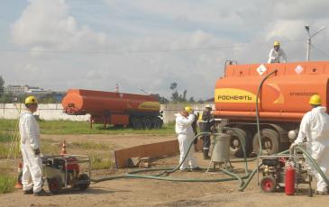 Установка оборудования для ликвидации последствий разлива нефтепродуктов