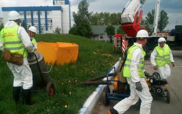Развертывание оборудования у резервуара