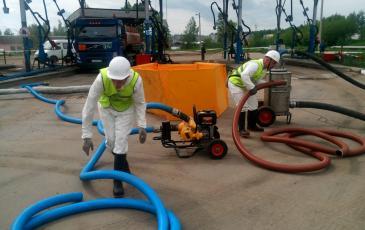 Развертывание оборудования на участке слива-налива топлива