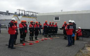 На место аварии прибывает нештатное аварийно-спасательное формирование
