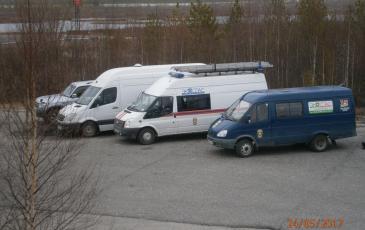 Прибыли четыре автомобиля от Нижневартовского центра «ЭКОСПАС» - филиал АО «ЦАСЭО»