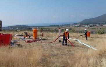 Имитация сбора нефти